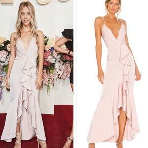 NWT Nbd light me up blush gown pink ruffle